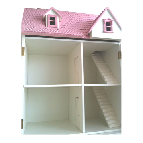 wooden dolls house inside
