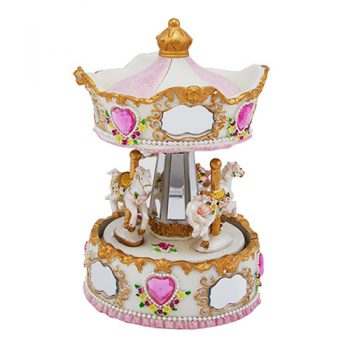 musical carousel in pink