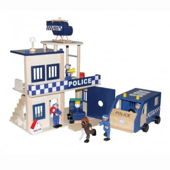 wooden police station