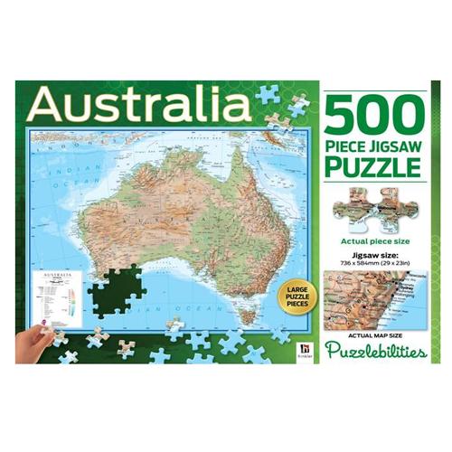 Map Of Australia Jigsaw Puzzle.Jigsaw Puzzle Australia 500pce