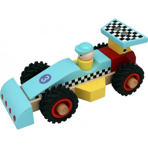 Wooden Race Car Blue TL22016B